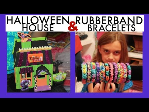KIDS CRAFTS ~ RUBBERBAND BRACELETS & FOAM HOUSE KIT