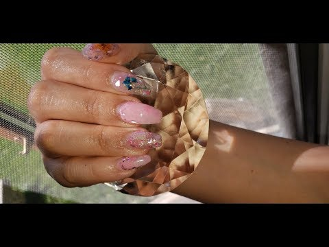 Modelos de uñas - Uñas Acrilicas Verano con Flores Reales Encapsuladas