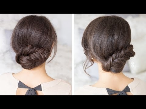 luxy hair - The fishtail updo is an easy and simple hairstyle that anyone can pull off. It takes minutes to create and looks absolutely spectacular. For this updo I used...