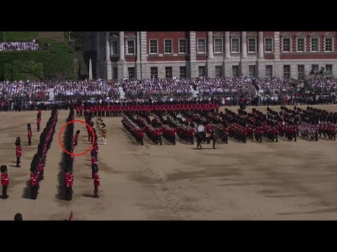 Guardsman collapses during Queen's birthday celebrations