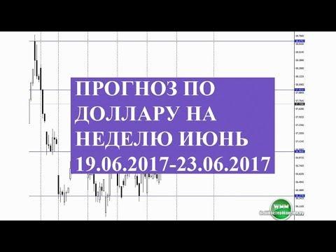 Прогноз по доллару на неделю июнь 19.06.2017-23.06.2017. Уровни помогут определить цели видео онлайн