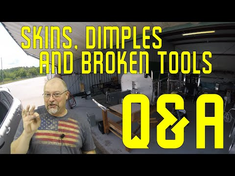 RV-10 Fuselage - 027 - Q&A, Skins, Dimples and broken tools