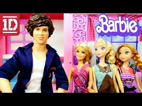 Barbie Doll House One Direction Harry Disney's Frozen Elsa and Anna Play Doh Episode 2