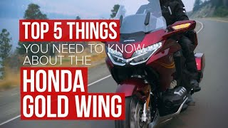 6. Five things you need to know about the 2018 Honda Gold Wing