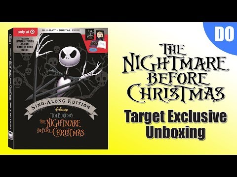 Nightmare Before Christmas 25th Anniversary Target Exclusive Blu Ray Unboxing
