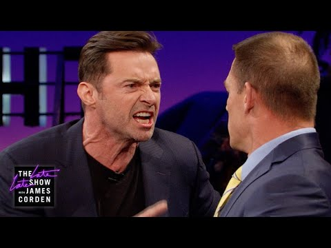 John Cena Teaches Hugh Jackman How to Reverse Trash