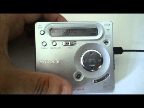 Optical cable testing with Minidisc - digital recording (Sony MZ-G755 minidisc recorder)