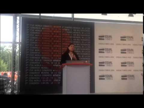 Presidenta de la CUT en congreso CSI Berlin - Alemania
