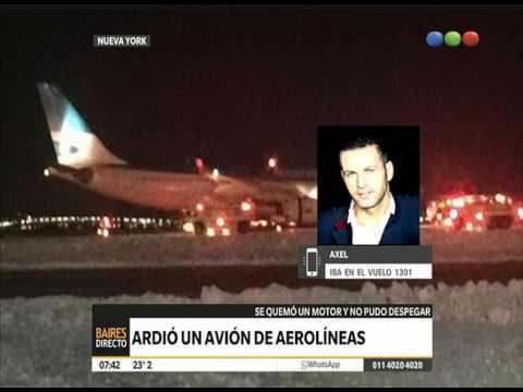 Incendio del avión de Aerolíneas