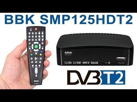 ТВ DVB-T2 приставка BBK SMP125HDT2 обзор тюнера