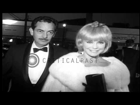 Celebrities Arrive At The Premier Of The Movie The Chalk Garden By Ross Hunter. HD Stock Footage