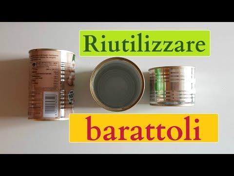 Come RIUTILIZZARE BARATTOLI di LATTA: 7 idee (2019) riciclo creativo tutorial