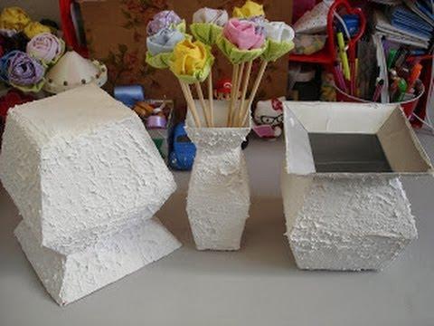 diy - come realizzare un vaso con materiali di riciclo