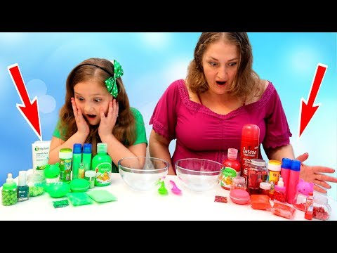 BATALIE intre SLIME-uri Slime VERDE vs Slime Rosu / Red Slime vs Green Slime Satisfying Slime Video