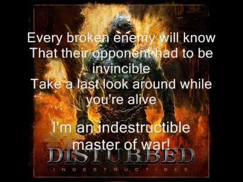Disturbed -  Indestructible (lyrics)
