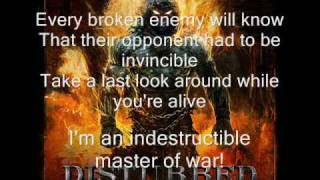 Video Disturbed -  Indestructible (lyrics) MP3, 3GP, MP4, WEBM, AVI, FLV Desember 2018