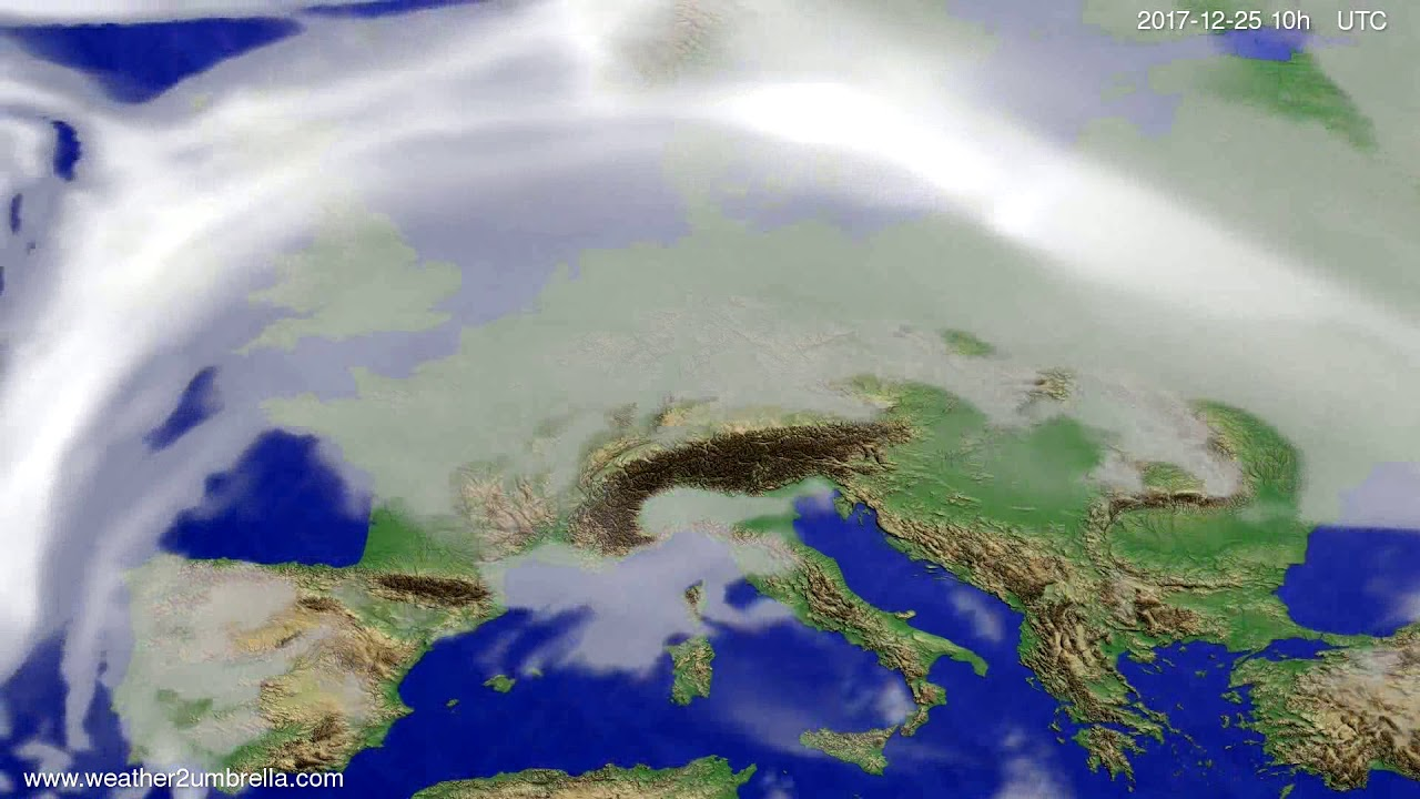Cloud forecast Europe 2017-12-23
