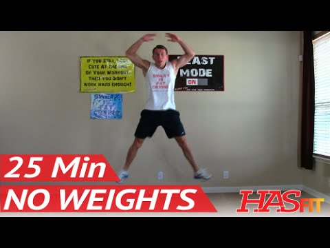 25 Min Workout Without Weights – HASfit Exercises to Lose Belly Fat Workouts without Equipment No