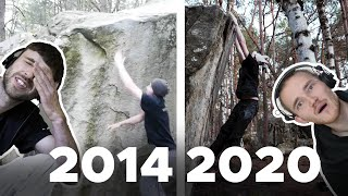 Climbers critique thier old clips    Bouldering Bobat by Bouldering Bobat