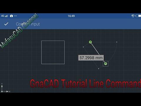 GnaCAD Line Command Tutorial Android Apps