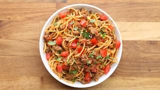 Quick & Easy One-Pot Taco Spaghetti by Tasty