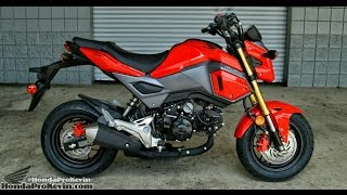 4. 2017 Honda Grom 125 Motorcycle Walk-Around / Start-Up Video | Review at HondaProKevin.com (Red)