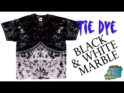 How to Tie Dye:  Black & White Marble  [Ice Dye]