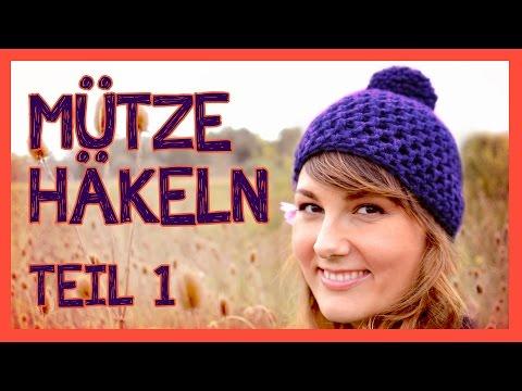 Beanie häkeln – Anfang ohne Vernähen des Fadens (halbe Stäbchen ...