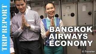 This is a Trip Report of our Bangkok Airways Economy Class flight from Singapore Changi Airport to Koh Samui Airport onboard an Airbus A319.This Bangkok Airways Trip Report is filmed with our 4K Camcorder which can be seen on Amazon here: http://amzn.to/2tyK6D9This Flight Review covers the flight from Singapore Changi Airport to Koh Samui Airport. The video begins with Maxi and Maro arriving on a very delayed flight from Paris with Air France. We follow Maxi and Maro through the airport to see whether they are in time for their Economy Class flight to Koh Samui or not. Once our Bangkok Airways flight is ready for boarding the viewers is taken on a walk through the passenger bridge and onboard the Bangkok Airways Airbus A319, one one gets a view of the Bangkok Airways Cabin (the Bangkok Airways Business Class cabin has limited seats). Once the Bangkok Airways cabin crew have shown us our seats and our carry on luggage is in the overhead locker we sit in the seats. The Bangkok Airways Economy Class cabin interior is a fresh blue colour and the Bangkok Airways seat is nicely padded and very comfortable with a good seat recline, even in the back row of the Airbus A319 when we were sitting. This Trip Report then includes a presentation of The Bangkok Airways Inflight Shopping Catalog, the Bangkok Airways Inflight Magazine and the Bangkok Airways Onboard Safety Card. No Trip Report is complete without a trip to the Bangkok Airways Economy Class toilets, and that is covered in this Trip Report also.  On this short 1 Hour and 45 Minute flight Bangkok Airways also serves an Inflight Meal and Inflight Beverages. The Economy Class inflight meal is hot and a generous portion is served along with either alcoholic or non-alcoholic drinks. When arriving and departing from Thailand all foreign nationals (not Thailand residents) must fill out a Departure and Arrival Card. These cards are handed out onboard by the Bangkok Airways cabin crew and they are also covered in this Bangkok A