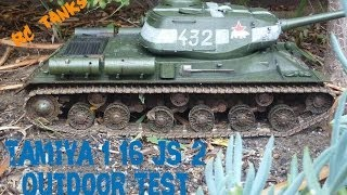TAMIYA 1/16 JS-2 RC Tank Outdoor Running HD