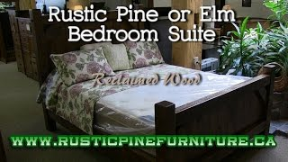 Mennonite Rustic Pine or Elm Bedroom Suite