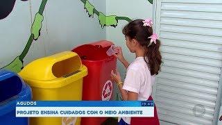 Projeto ensina crianças da rede pública de Agudos a cuidarem do meio ambiente