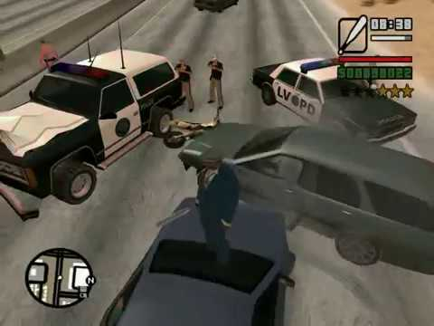 GTA San Andreas: how to scare people and joke police!