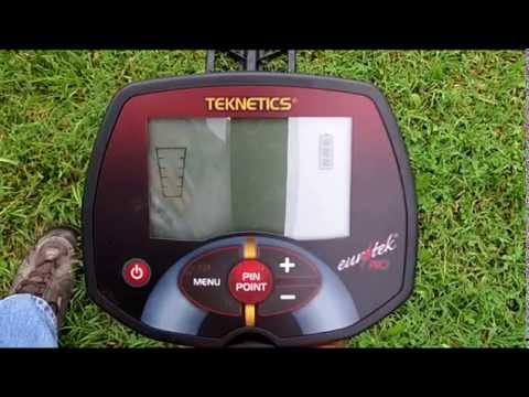Teknetics Eurotek pro metal detector with the 11