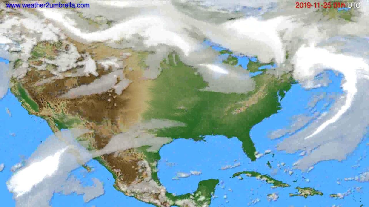Cloud forecast USA & Canada // modelrun: 12h UTC 2019-11-23