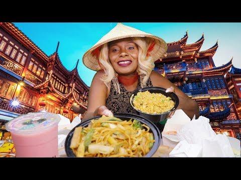 {CHINESE FOOD} MUKBANG STORY TIME ASMR EATING Sounds BOBA SMOOTHIE