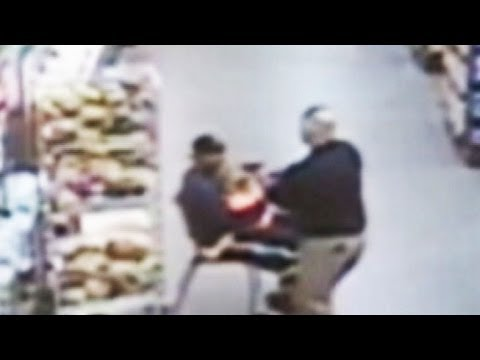 child - Intervenes after stranger allegedly snatches child from shopping cart, holds her at knifepoint.