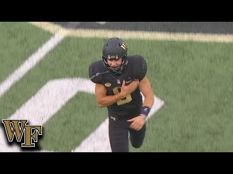 Wake Forest Gets Insane Punt From Dom Maggio To Down BC At 1-Yard Line