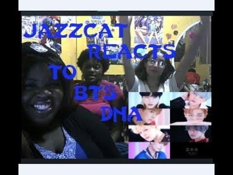 JazzKat17 w/friends reacts to BTS DNA' Official MV