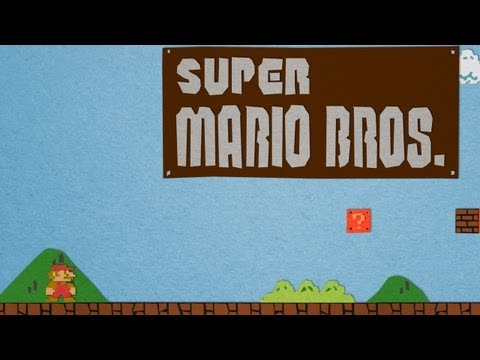 Super Mario Bros Paper Stop Motion Animation