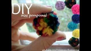 DIY Mini Pompoms! FUN! - YouTube