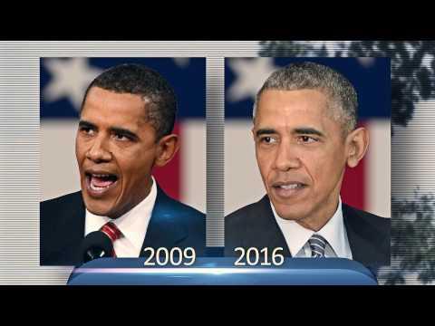 До и после: как Барак Обама изменился за время своего президентства (видео)
