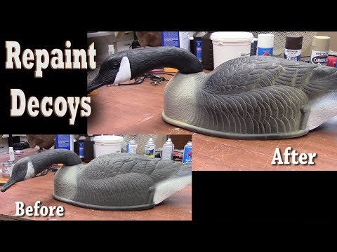 How to Retouch / Repaint goose decoys for waterfowl hunting
