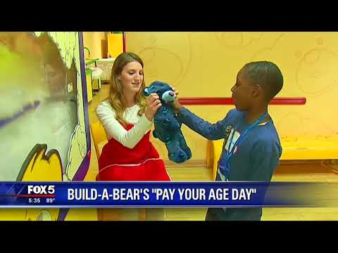 Build A Bear's 'Pay Your Age Day'