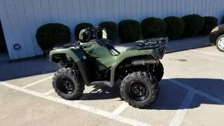 7. 2017 Honda Rubicon EPS 500 4x4 ATV (TRX500FM6H) Walk-Around Video | Olive | HondaProKevin.com