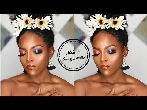 MAKEUP TRANSFORMATION ON BROWN SKIN|| WOMEN OF COLOR MAKEUP TUTORIAL