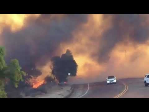 URGENT WARNING - Video Footage of Lilac Fire in San Diego - 150 Acres Long #Lilacfire