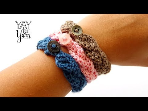 How To Make A Braided Crochet Bracelet | Yay For Yarn