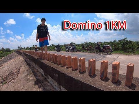 NTN - 4K Thử Xếp Gạch Domino Dài 1KM ( Domino Brick 1KM ) - Thời lượng: 12 phút.
