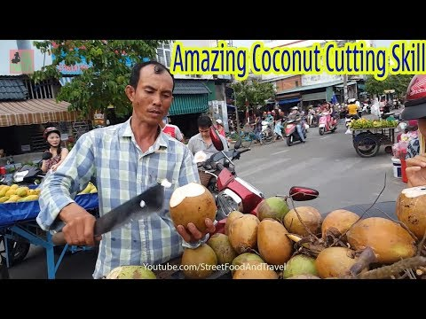 Video Amazing Coconut Cutting Skill - Fruit Market Worker Street Food Vietnam 2018 download in MP3, 3GP, MP4, WEBM, AVI, FLV January 2017